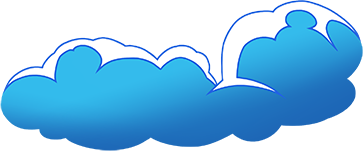 Poitto Hero logo - clouds